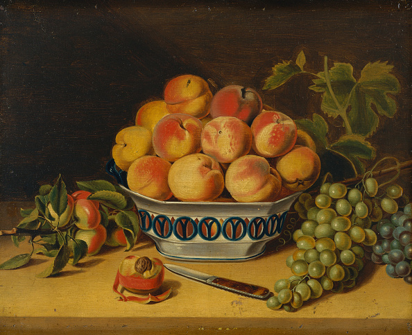 Bowl「Still Life: Peaches And Grapes」:写真・画像(13)[壁紙.com]
