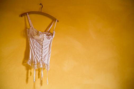 Yellow Dress「still life of bodice on hanger」:スマホ壁紙(16)