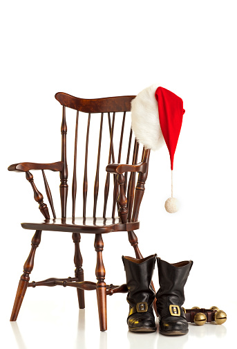 Santa Hat「Still Life of Santas' Chair. Isolated on White. XXL」:スマホ壁紙(16)
