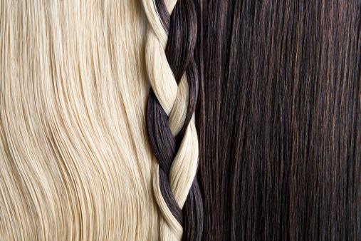 Brown Hair「Still life of blond and brown hair, braided.」:スマホ壁紙(6)