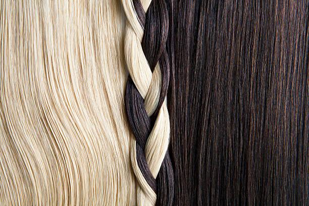 Still life of blond and brown hair, braided.:スマホ壁紙(壁紙.com)