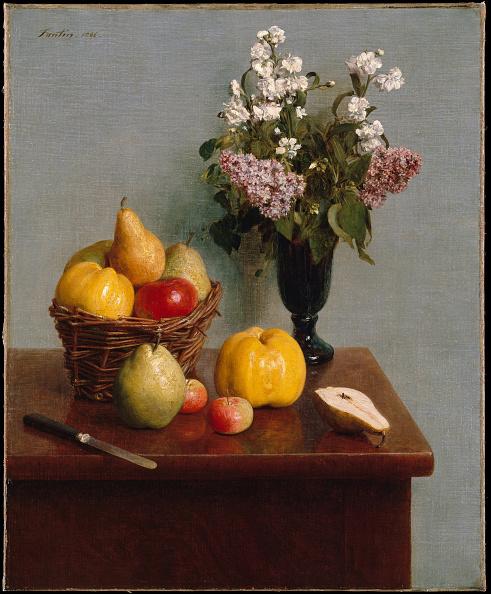 静物「Still Life With Flowers And Fruit 1866」:写真・画像(8)[壁紙.com]