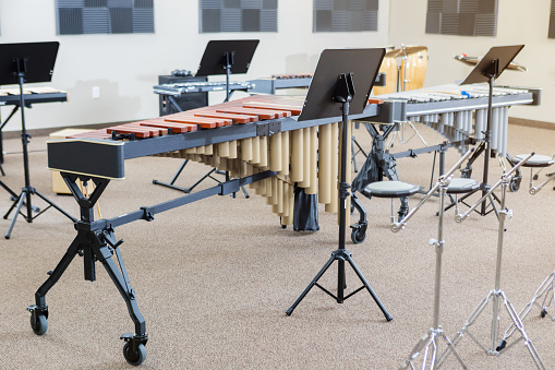 Musical Conductor「Still life photo of percussion instruments in a music studio」:スマホ壁紙(3)