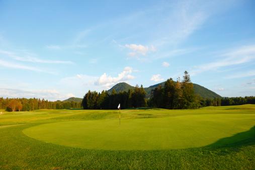 ゴルフ「ゴルフコースのグリーン」:スマホ壁紙(18)