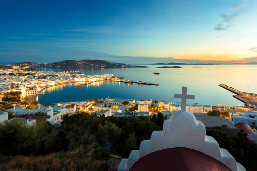 Greece「View on Mykonos town in Greece」:スマホ壁紙(8)
