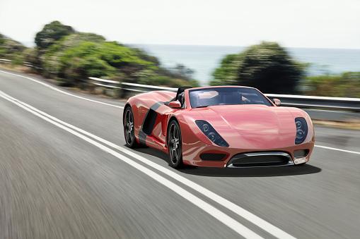 Sports Car「Sports Car on a Coastal Road」:スマホ壁紙(5)