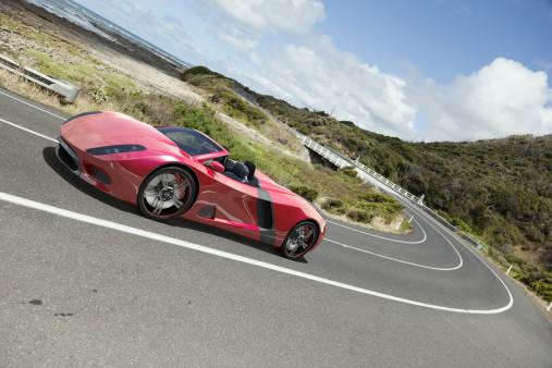 Coastline「Sports Car on a Coastal Road」:スマホ壁紙(16)
