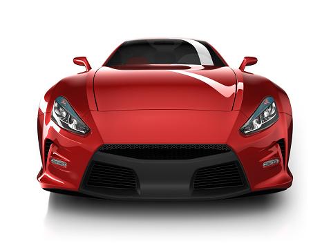 ハイブリッドカー「スポーツ車のスタジオでの分離白/クリッピングパス」:スマホ壁紙(3)