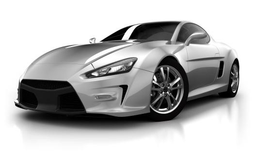 ハイブリッドカー「スポーツ車のスタジオでの分離白/クリッピングパス」:スマホ壁紙(6)