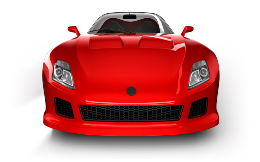 Sensuality「Sports car in studio - isolated on white/clipping path」:スマホ壁紙(10)