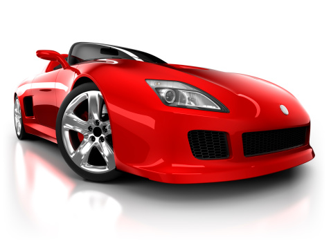 Sports Car「Sports car in studio - isolated on white/clipping path」:スマホ壁紙(17)