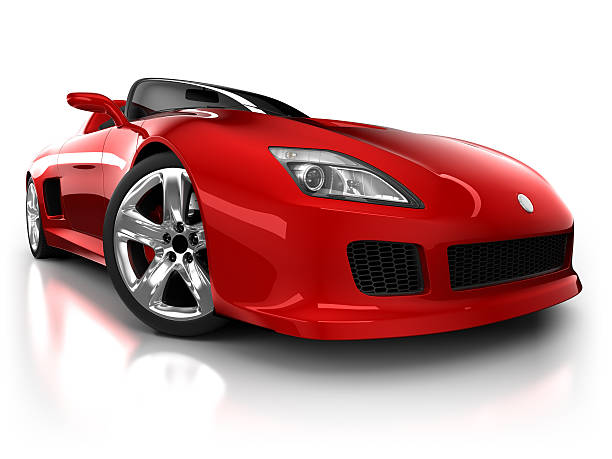 Sports car in studio - isolated on white/clipping path:スマホ壁紙(壁紙.com)