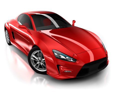 Power Supply「Sports car in studio - isolated on white/clipping path」:スマホ壁紙(1)