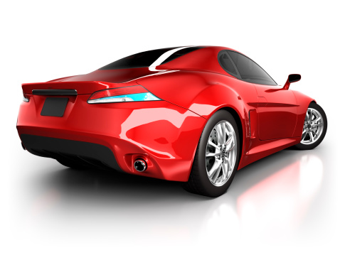 Power Supply「Sports car in studio - isolated on white/clipping path」:スマホ壁紙(11)