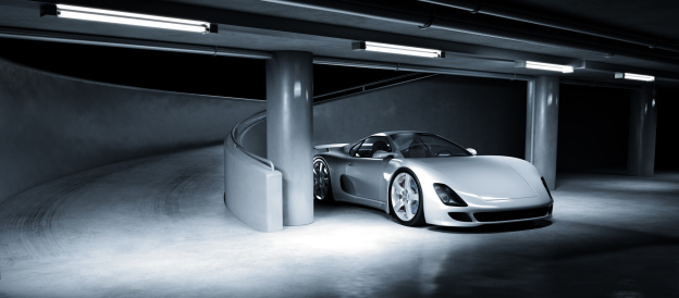 Sports Car「Sports Car in Underground Carpark」:スマホ壁紙(13)