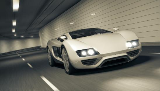 Tunnel「Sports car in Tunnel」:スマホ壁紙(15)