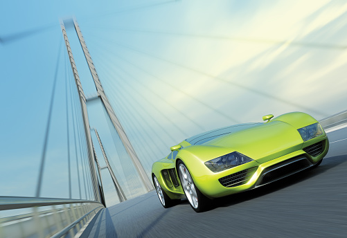 Sports Car「Sports Car on Bridge」:スマホ壁紙(4)