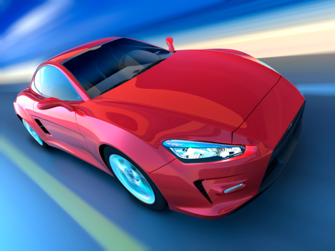 Motion「Sports car driving along beach, clipping path included」:スマホ壁紙(18)