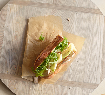 Arugula「Overhead of turkey sandwich with apples & arugula」:スマホ壁紙(11)