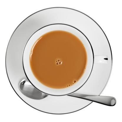 ソーサー「Overhead of a cup of tea」:スマホ壁紙(17)