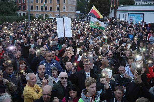 Saxony「Right-Wing Protests Resume In Chemnitz」:写真・画像(1)[壁紙.com]
