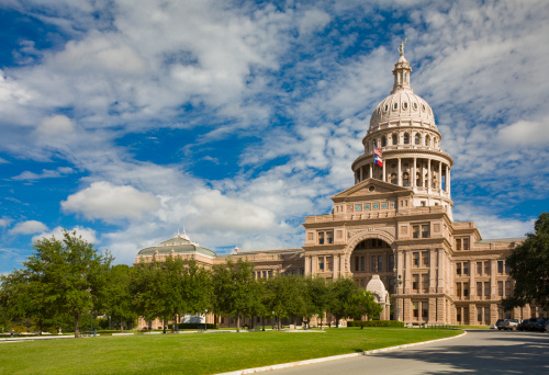 Southern USA「Texas State Capitol Building in Austin, 3/4 view」:スマホ壁紙(1)