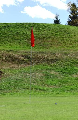 Golf Links「Flagstick on green of golf course」:スマホ壁紙(4)