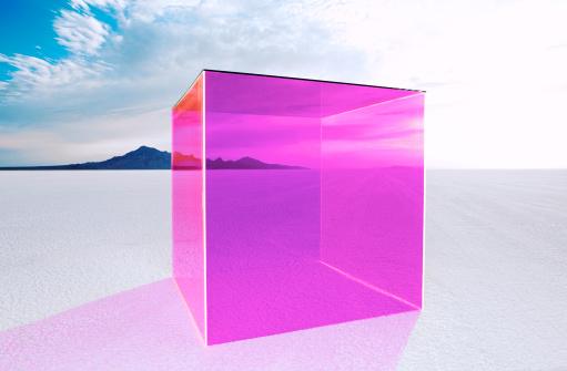 塩湖「Magenta box on salt flats.」:スマホ壁紙(13)