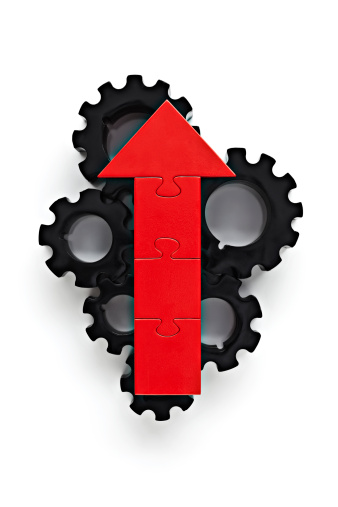 Improvement「Cogs with red arrow on top」:スマホ壁紙(19)