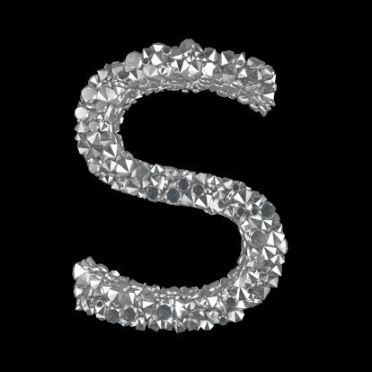 Letter S「Diamond Letter S」:スマホ壁紙(14)