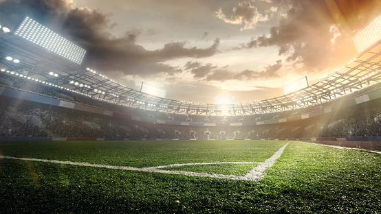 Match - Sport「Sport Backgrounds. Soccer stadium.」:スマホ壁紙(8)