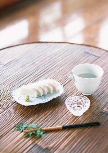 Sake「Slices of White Fish Paste Served with Wasabi」:スマホ壁紙(12)