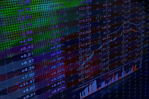 Bitcoin「Financial data on abtract background」:スマホ壁紙(6)