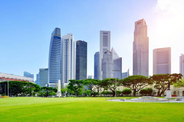 Financial District Skyscrapers, Singapore:スマホ壁紙(壁紙.com)