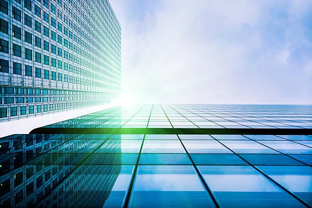 Financial District Glass Buildings, London:スマホ壁紙(壁紙.com)