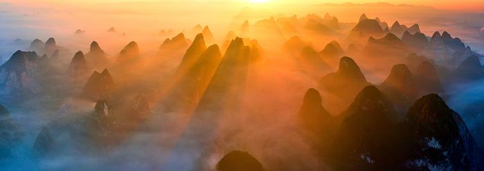 Guilin Hills「Guangxi guilin, yangshuo landscape」:スマホ壁紙(1)