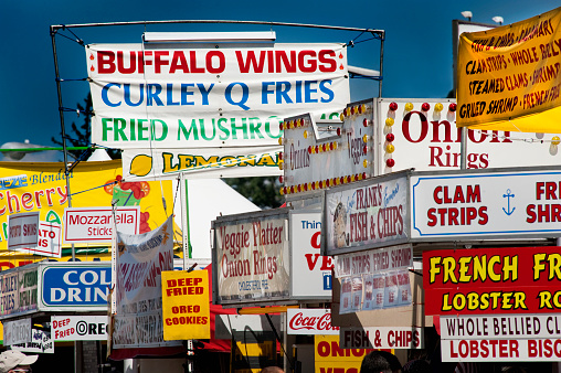 Chicken Wing「Food stands selling fried foods at Goshen Fair, Goshen, Ct.」:スマホ壁紙(5)