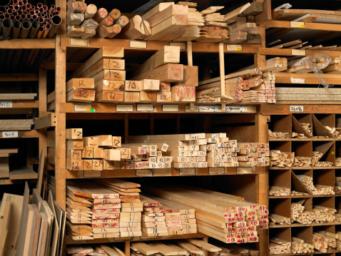 Part of a Series「Planks of wood on shelves」:スマホ壁紙(15)