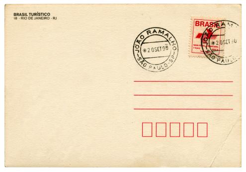 20th Century Style「Blank postcard from Joao Ramalho, Sao Paulo, Brazil, 1990」:スマホ壁紙(12)