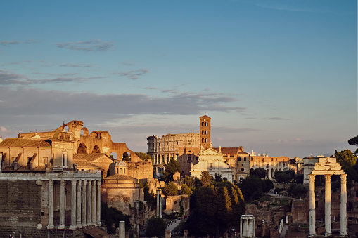 Roman「Italy, Lazio, Rome, cityview, Colosseum」:スマホ壁紙(4)