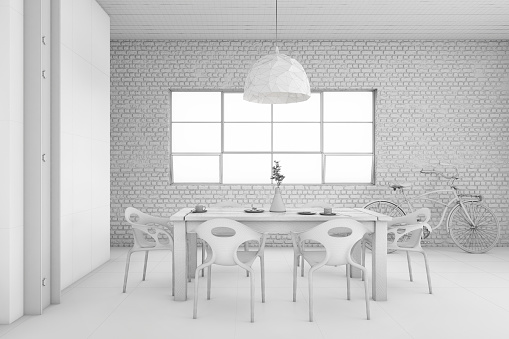 Template「Interior design apartment dining room concept illustration」:スマホ壁紙(6)
