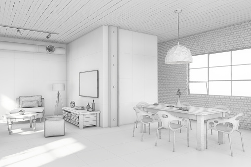Electrical Equipment「Interior design apartment white template」:スマホ壁紙(1)