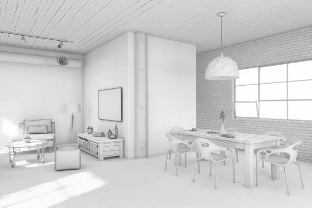 Interior design apartment white template:スマホ壁紙(壁紙.com)