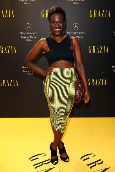 Yellow Skirt「Opening Night by Grazia Arrivals - Mercedes-Benz Fashion Week Spring/Summer 2015」:写真・画像(8)[壁紙.com]