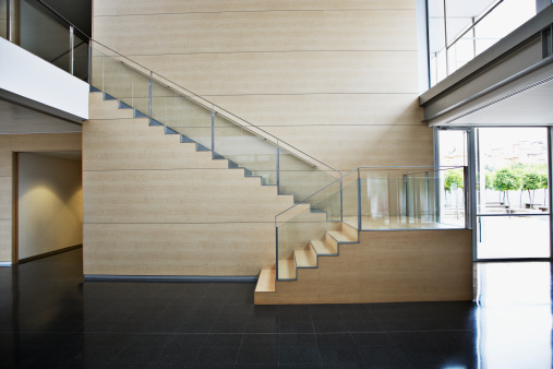 Steps and Staircases「Staircase in modern office building」:スマホ壁紙(2)