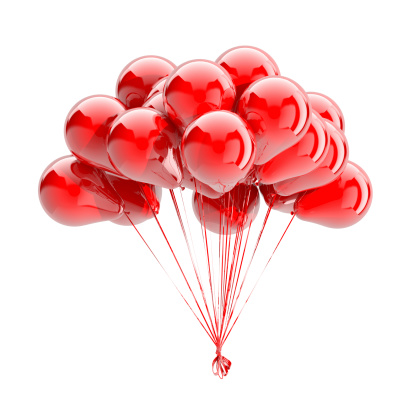 Helium「Balloons Isolated On White」:スマホ壁紙(6)