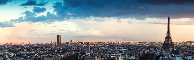 France「Paris Panorama From Arc De Triomphe」:スマホ壁紙(2)