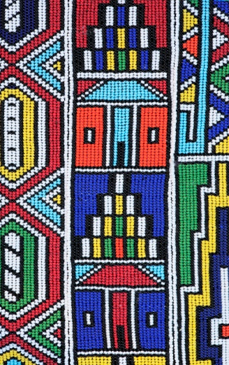 South Africa「Colourful African Ndebele Bead Work - Full Frame」:スマホ壁紙(8)