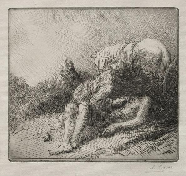 Etching「The Good Samaritan. Creator: Alphonse Legros (French」:写真・画像(2)[壁紙.com]
