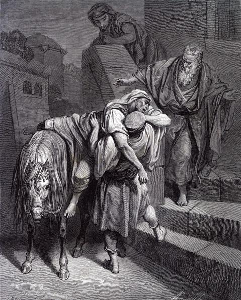 New Testament「The Good Samaritan at the inn, engraving by Doré.」:写真・画像(17)[壁紙.com]